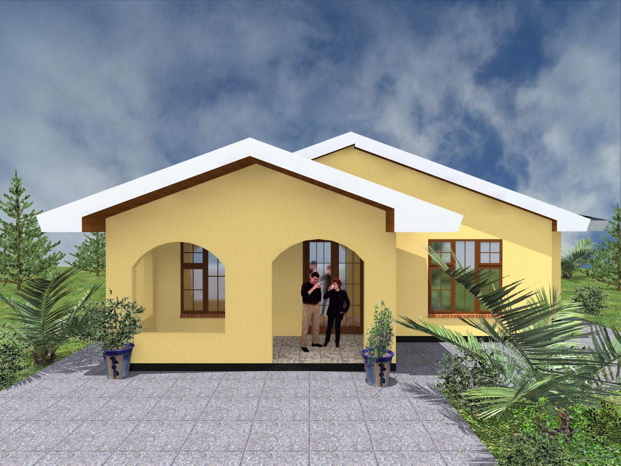 Simple three bedroom house plans in Kenya |HPD Consult