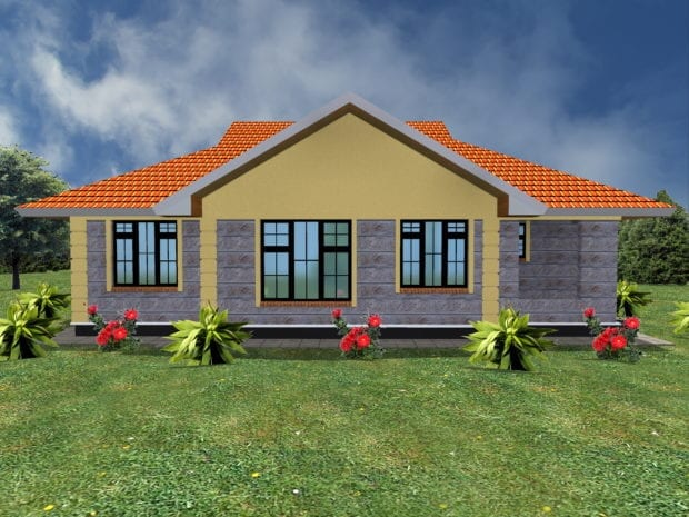 Simple three bedroom house plans