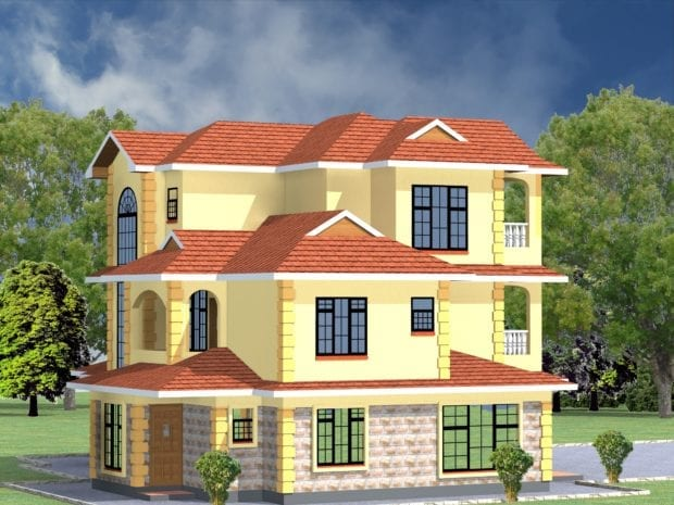 4 Bedroom Maisonette House Designs in kenya