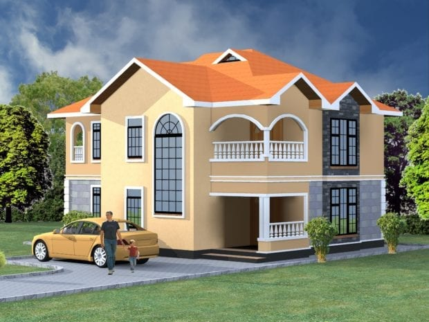 4 Bedroom Maisonette House Plan