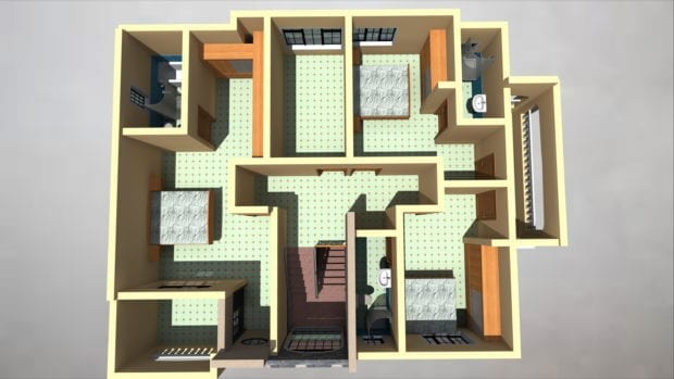 4 Bedroom Maisonette House Plan Design|HPD Consult