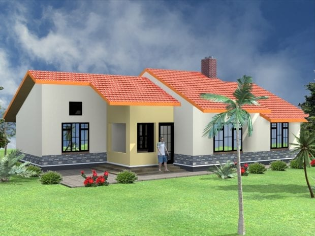 3 bedroom bungalow house plans design