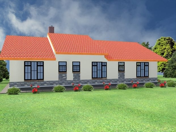 3 bedroom house plans in kenya pdf