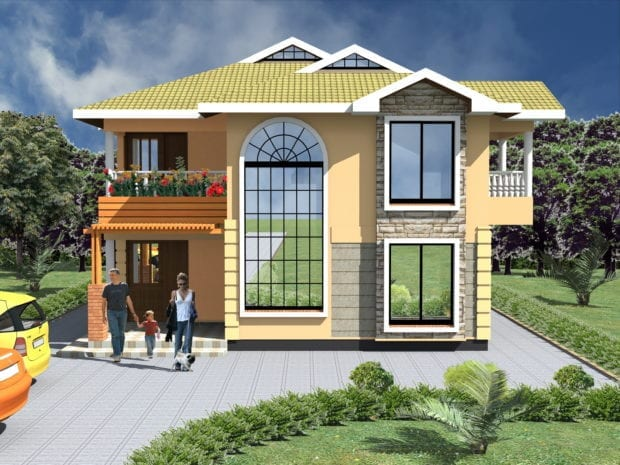 3 Bedroom Maisonette House Plans