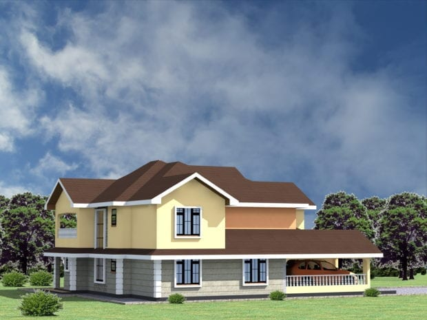 4 Bedroom house plans with attached garage.