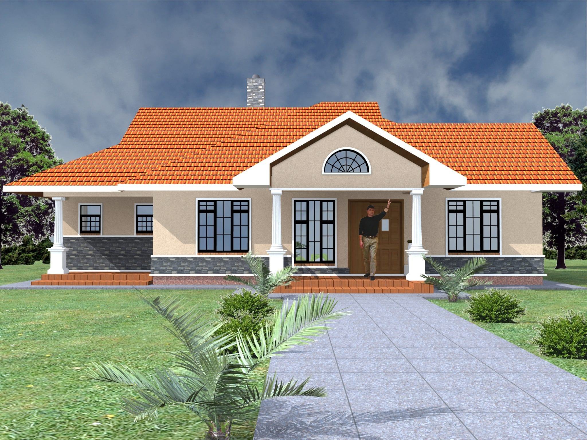 Three Bedroom Bungalow House Plans In Kenya Hpd Consult