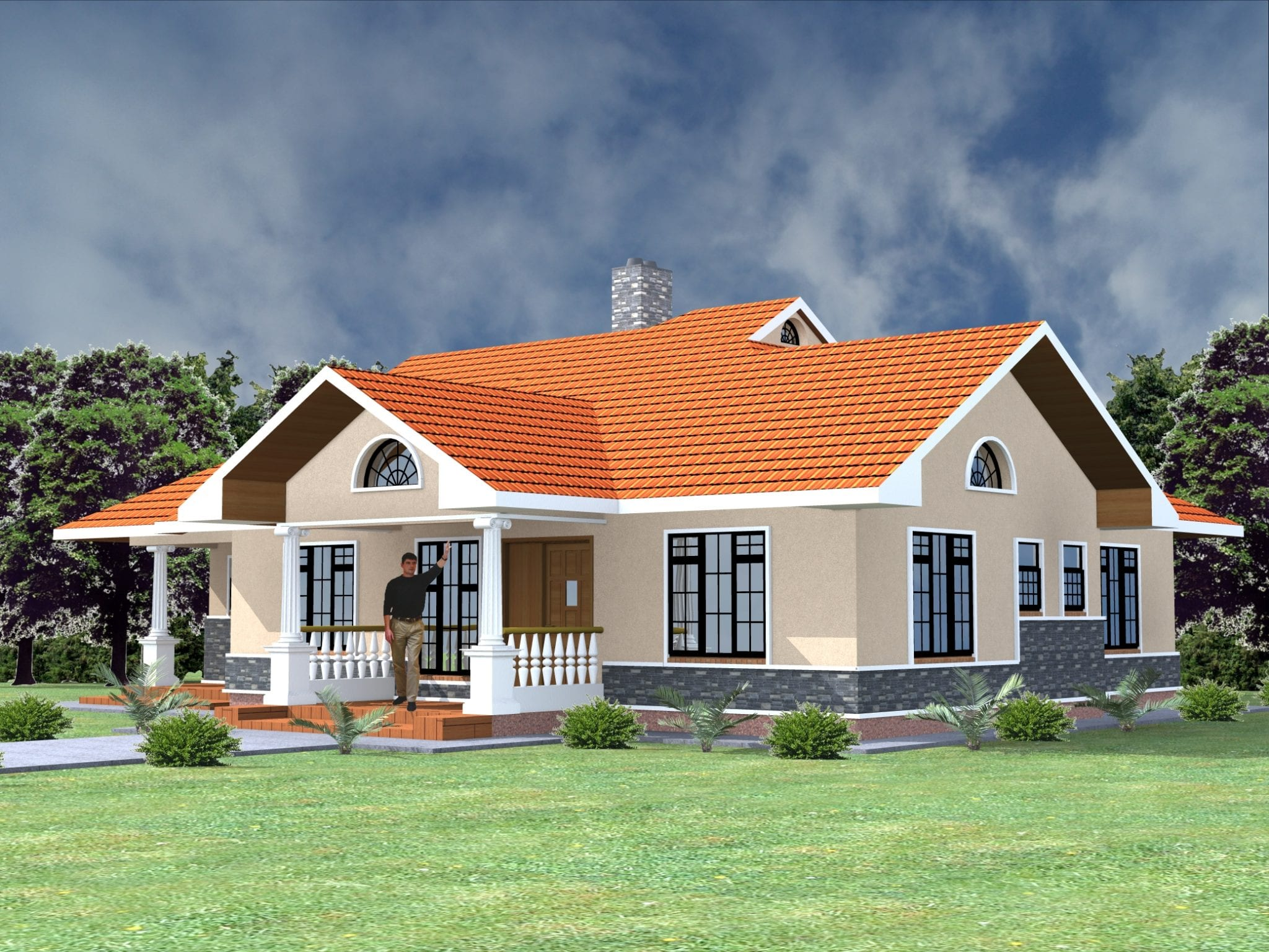 Best Kenyan Bungalow Roof Designs - Modern House
