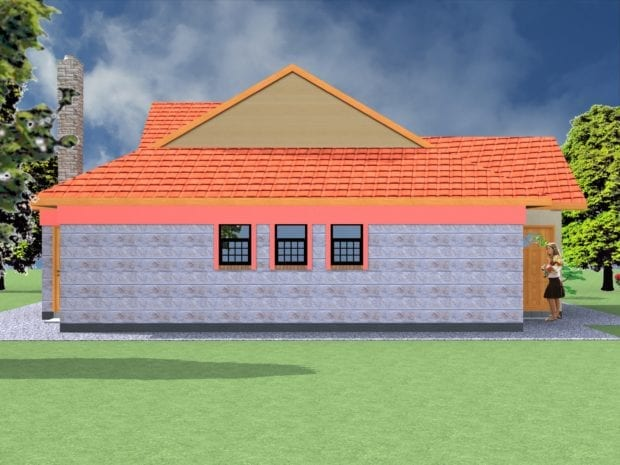 Simple 4 Bedroom Bungalow Design