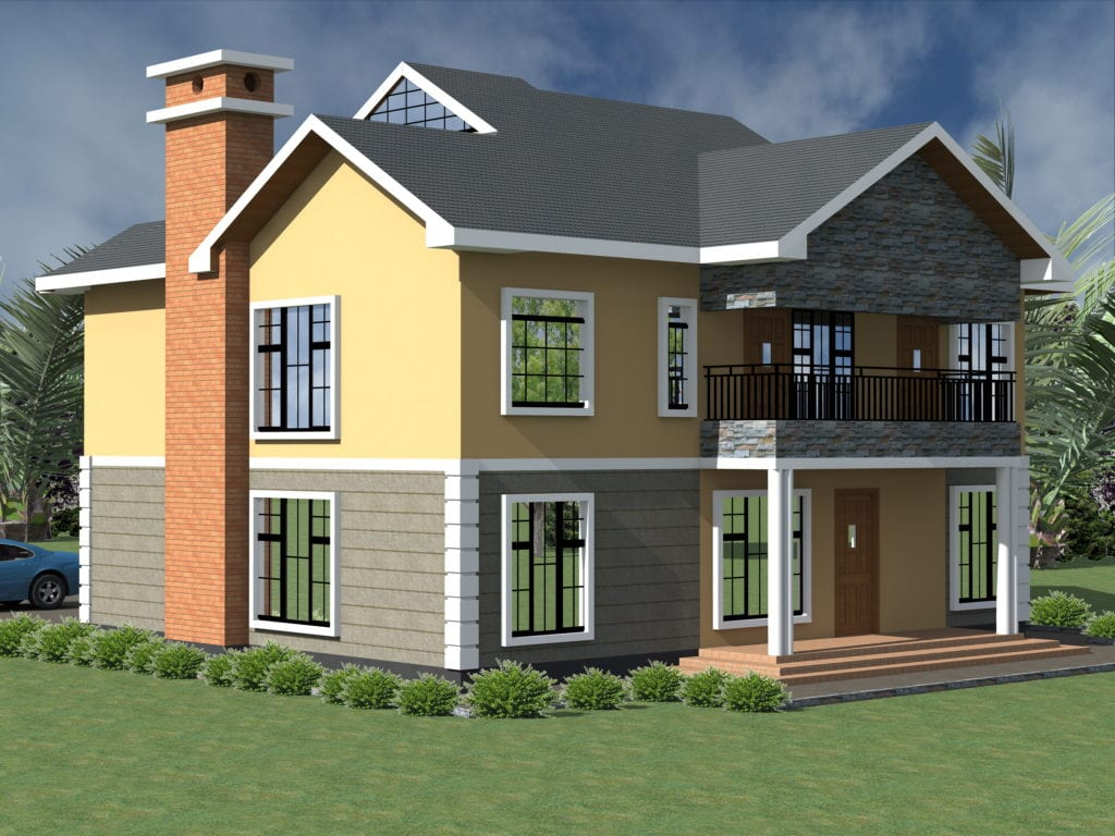 Artistic 4 Bedroom Maisonette House Plan