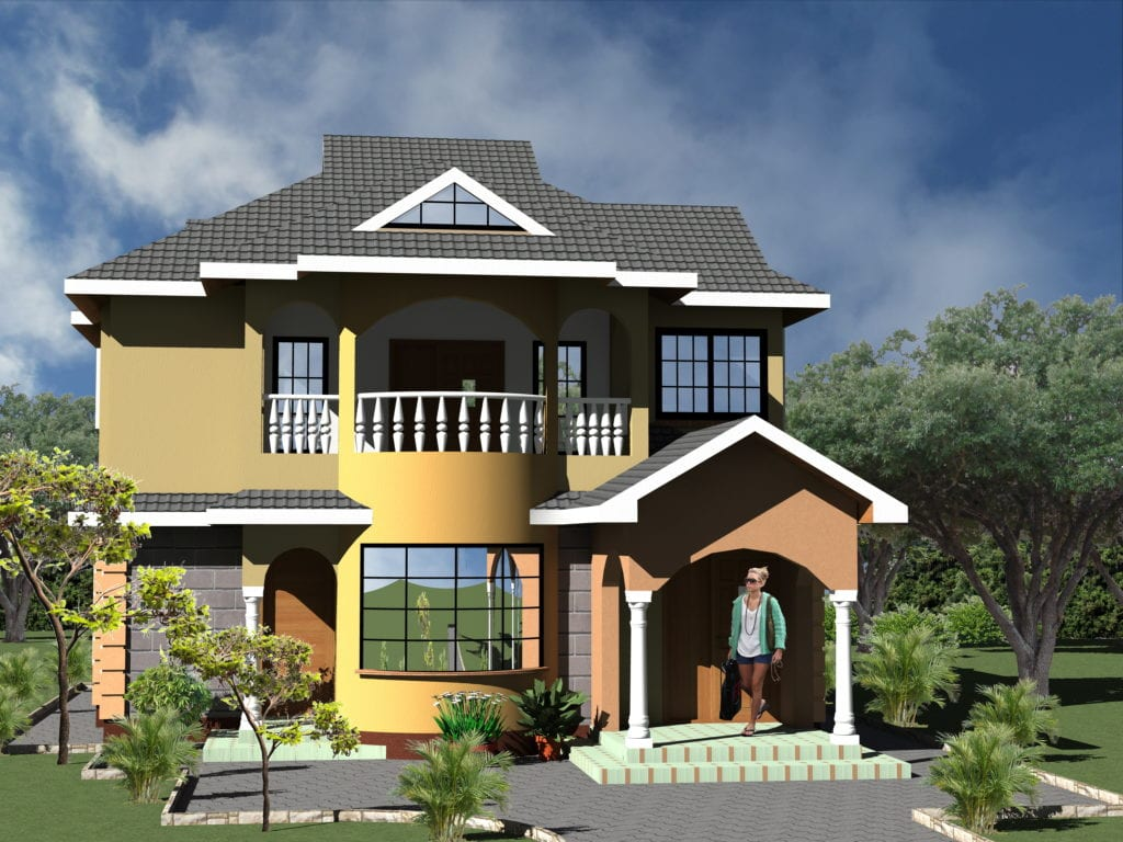 1071 A 71 RENDER 08 1024x768 - 43+ Modern Small House Plans With Photos In Kenya  Gif