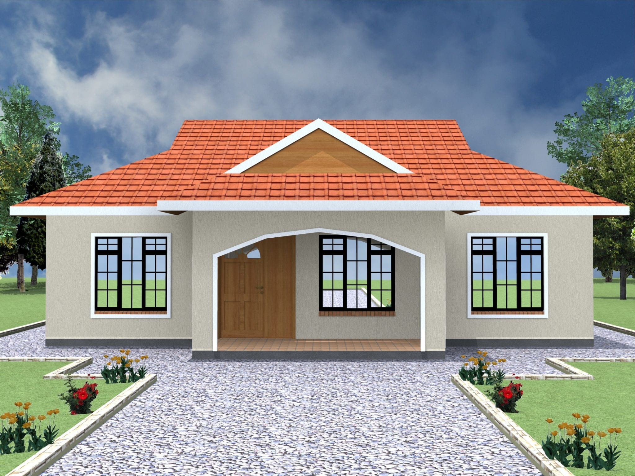 2 bedroom home plans simple 2 bedroom house plans in kenya hpd consult 2837