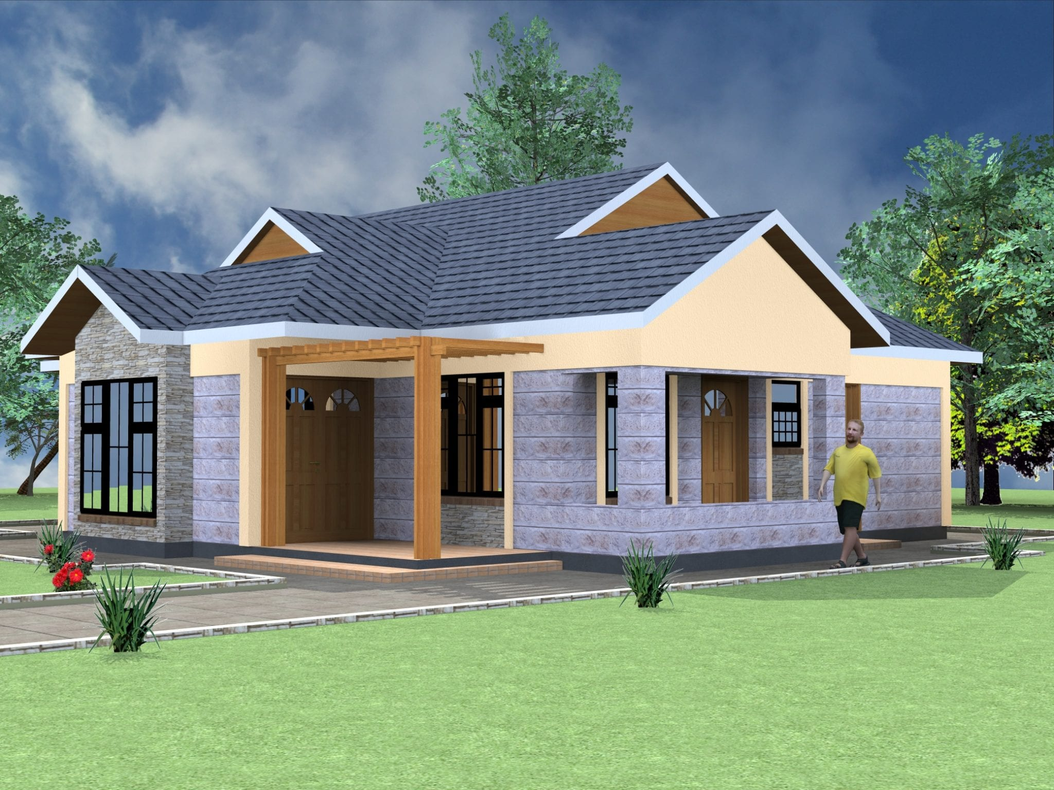 4 Bedroom bungalow architectural design |HPD Consult
