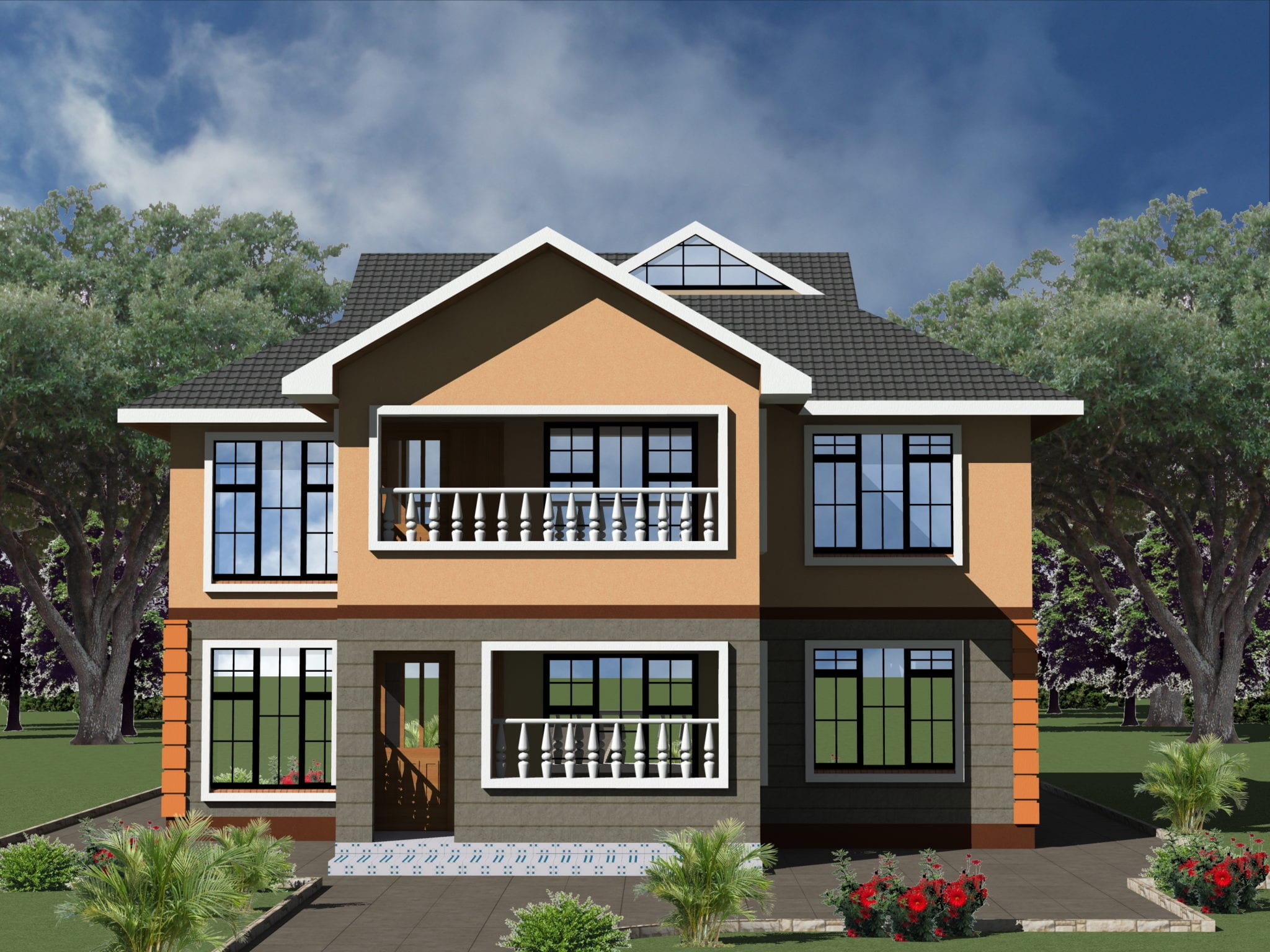 Stylish 5 Bedroom Maisonette House Plans Design | HPD Consult