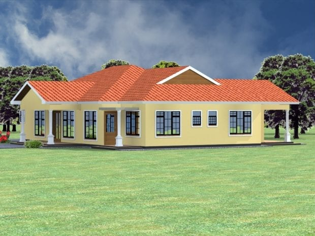 Four bedroom house plan in Kenya