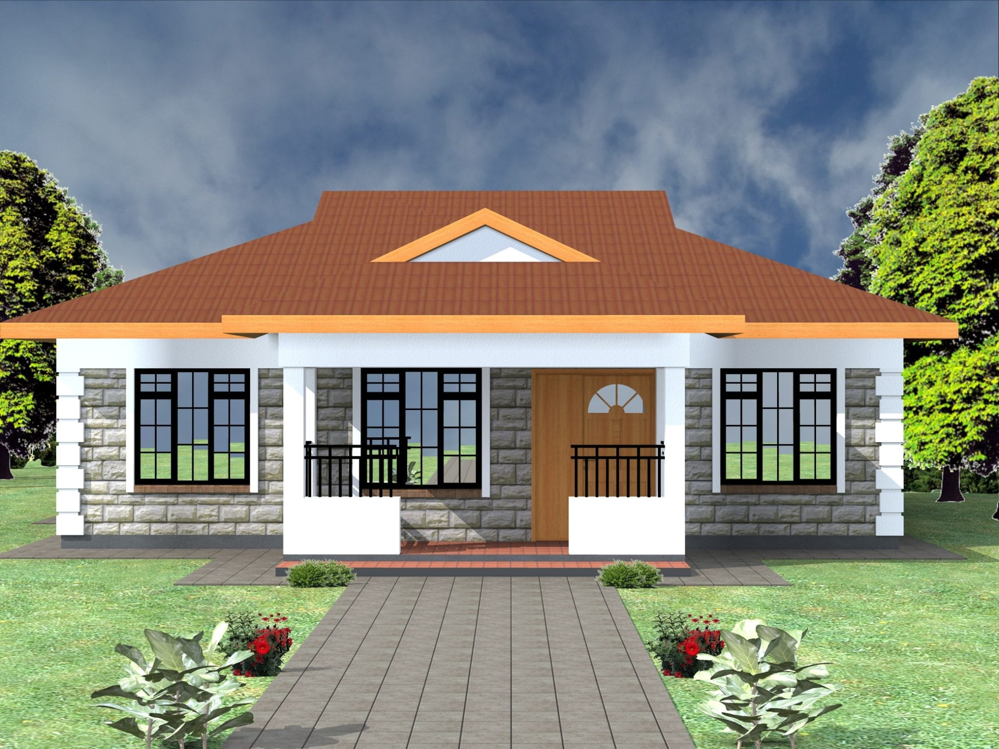Free 3 Bedroom House Plans Design | HPD Consult