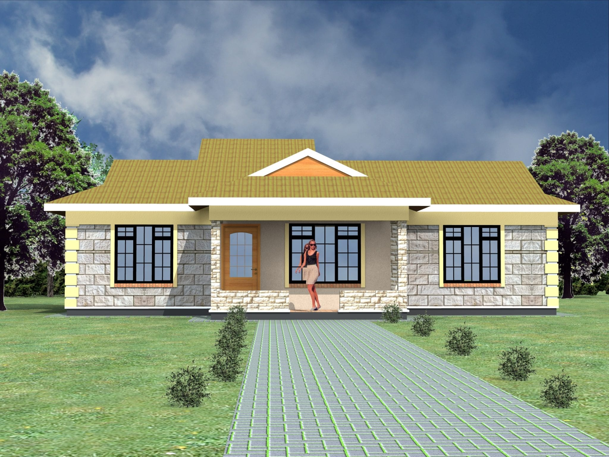 2 Bedroom Bungalow House Plan And Design House Decor Interior
