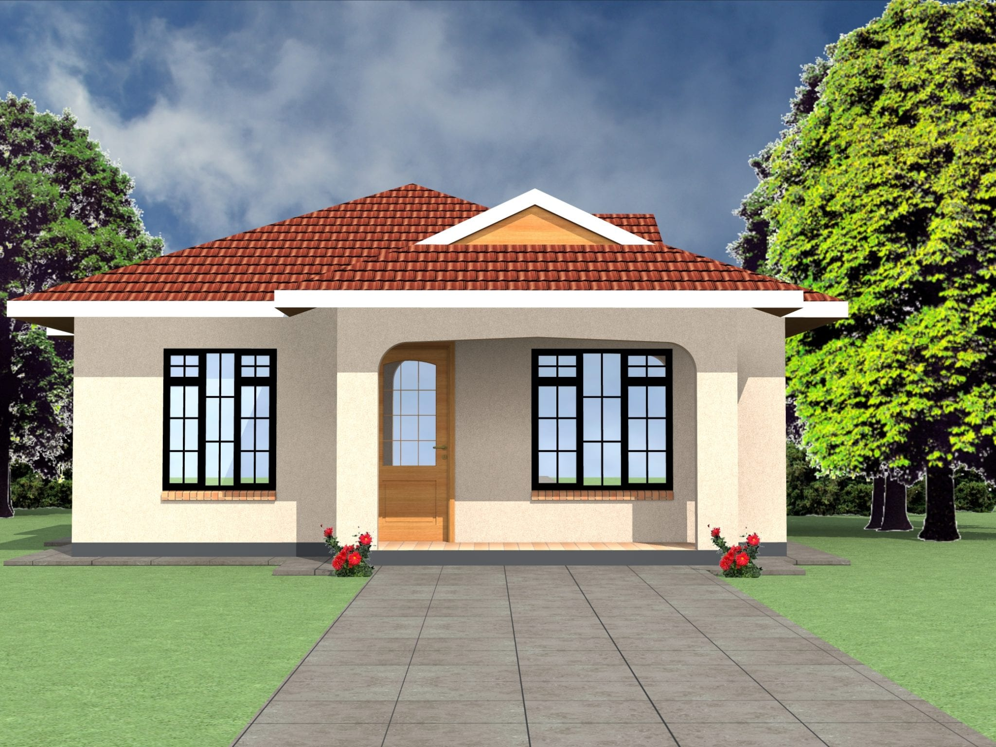 2 Bedroom House Plans Open Floor Plan | HPD Consult