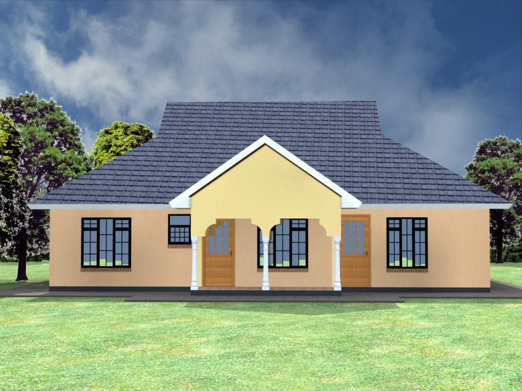 simple 3 bedroom house plans without garage |HPD Consult