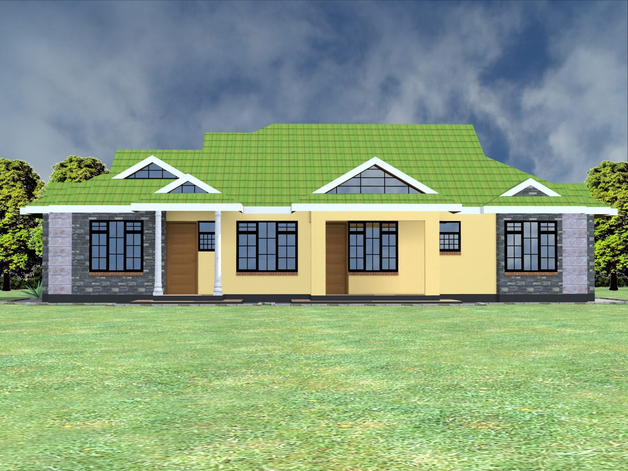 1112 N0.4 - View Modern 3 Bedroom Bungalow House Plans In Kenya Pictures