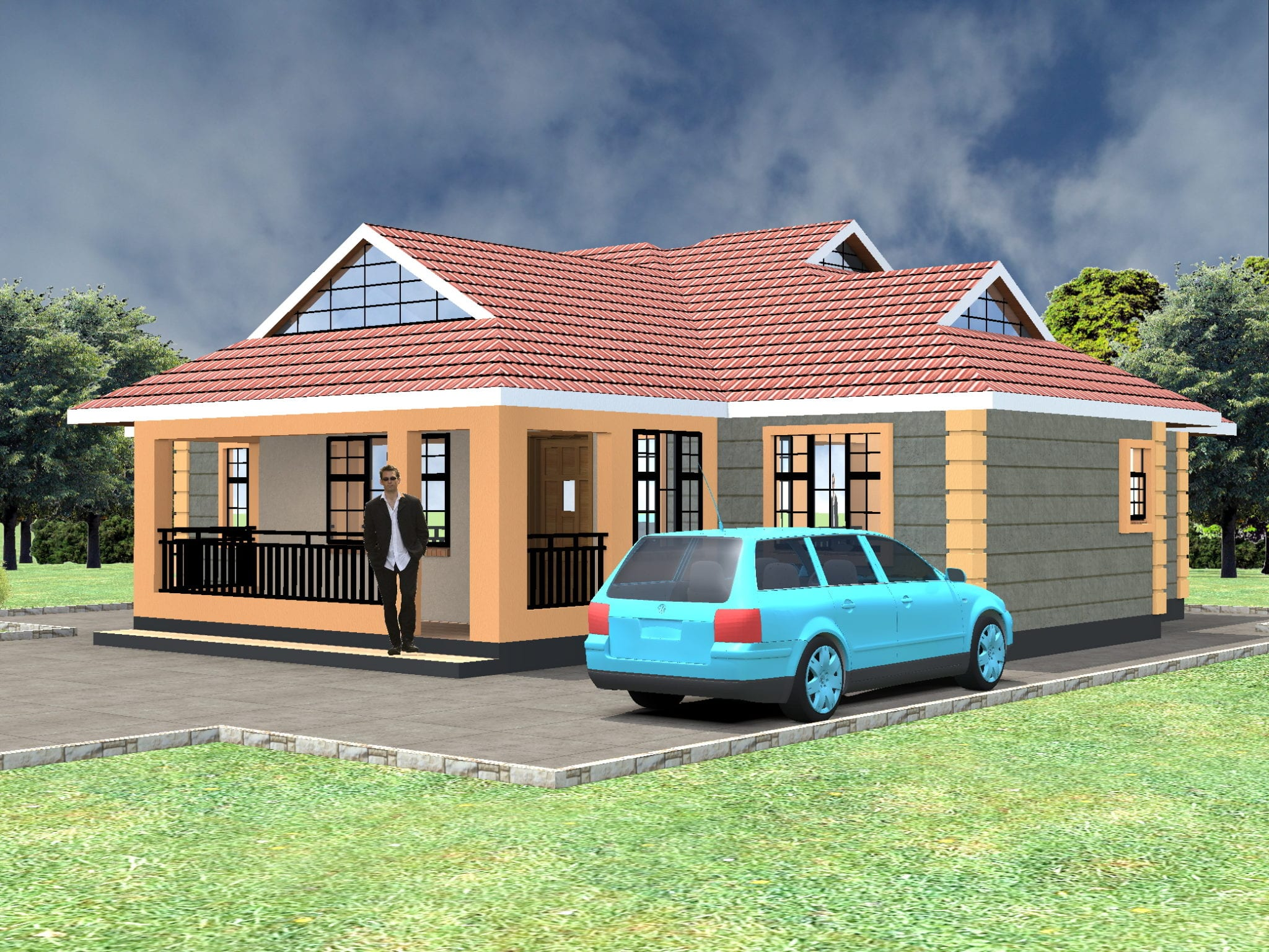 House Plans Without Garage: Simple 3 Bedroom House Plans Without Garage