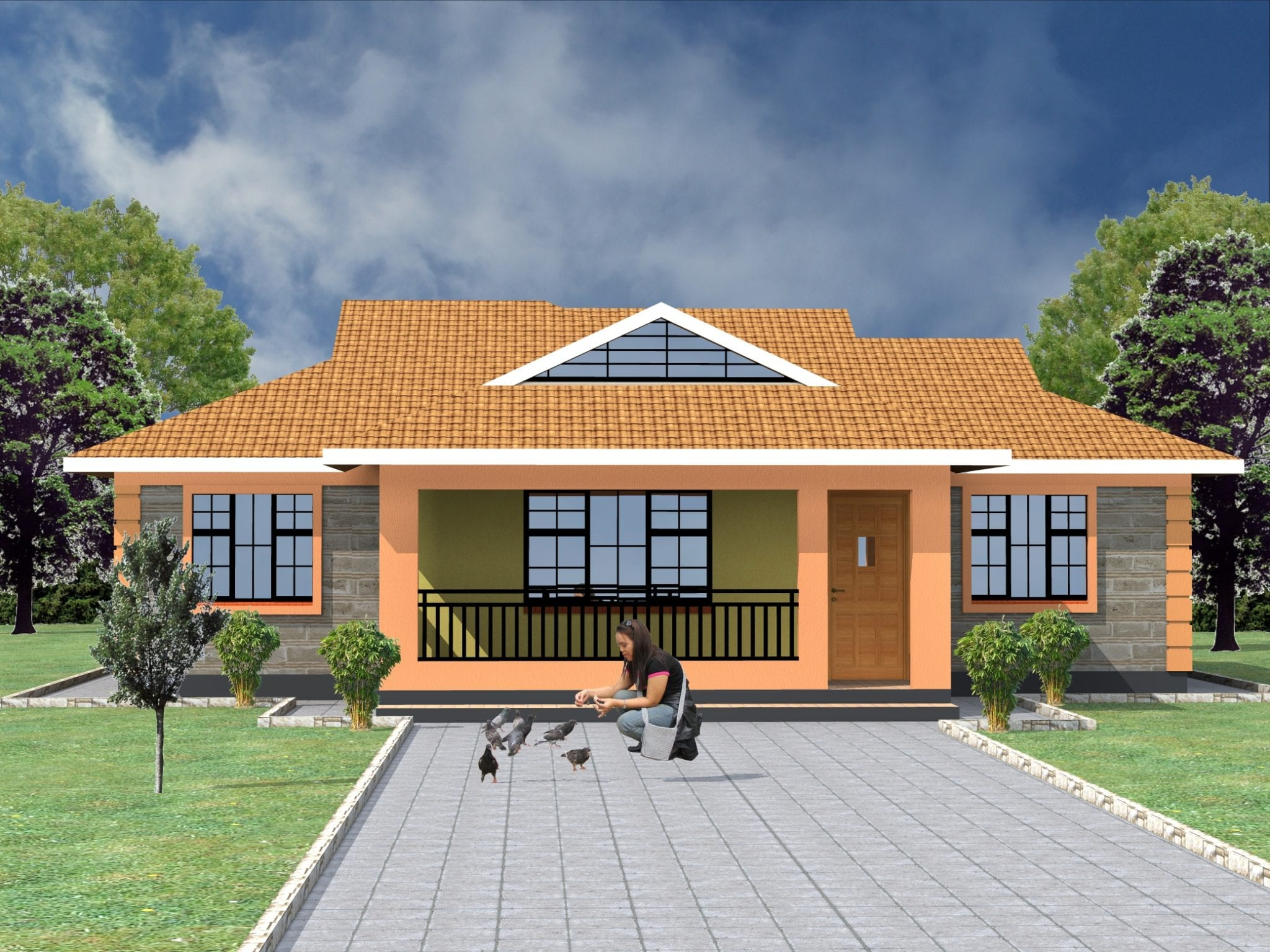 1129 N0.1 - 50+ Modern 3 Bedroom House Plans In Kenya  Pics
