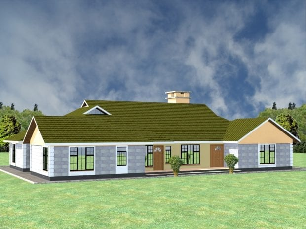 4 Bedroom house plans and designs in Kenya