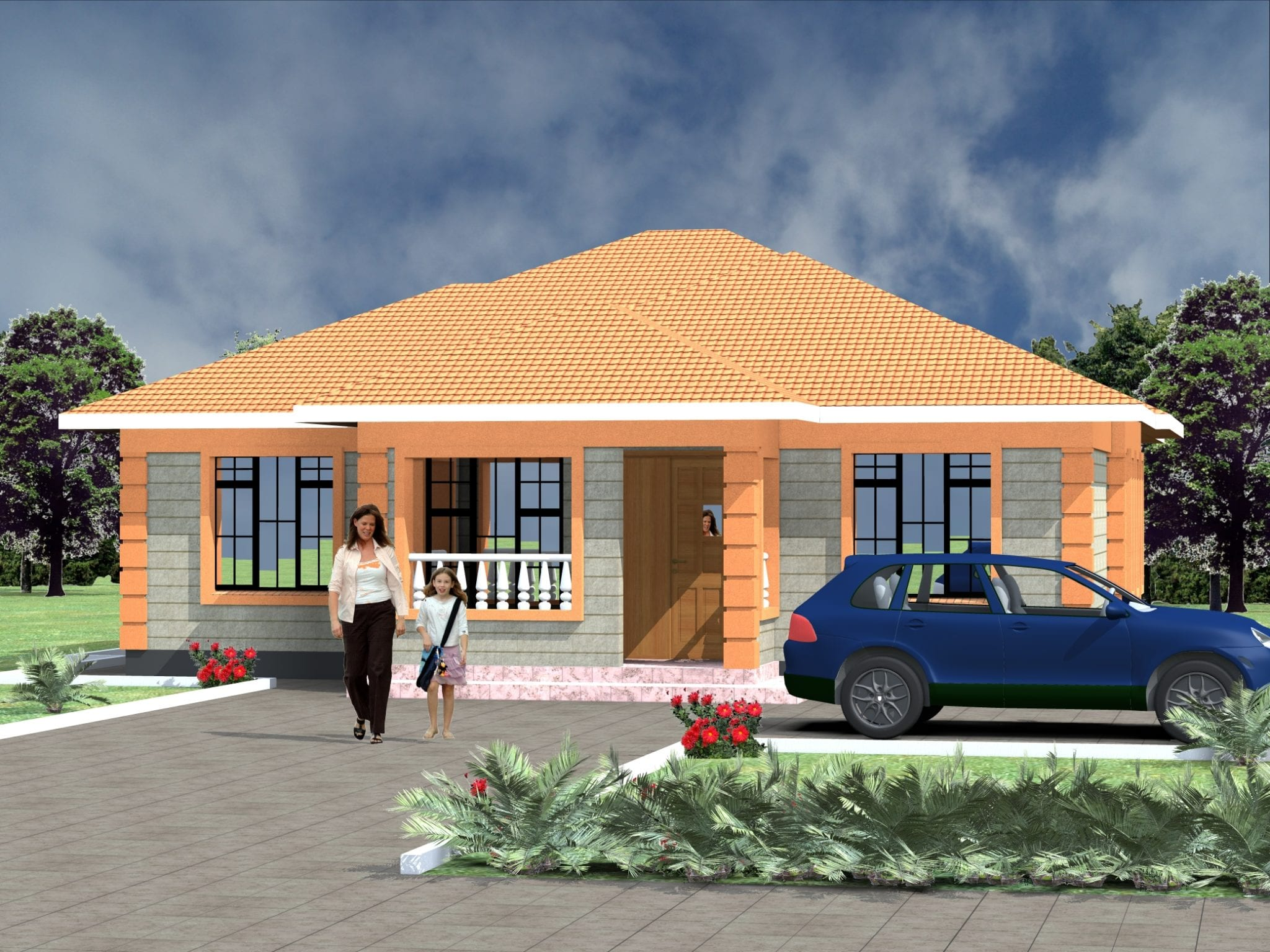 Small 3 Bedroom House Plans Design | HPD Consult