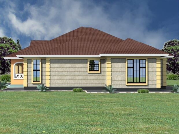 Simple three bedroom house designs