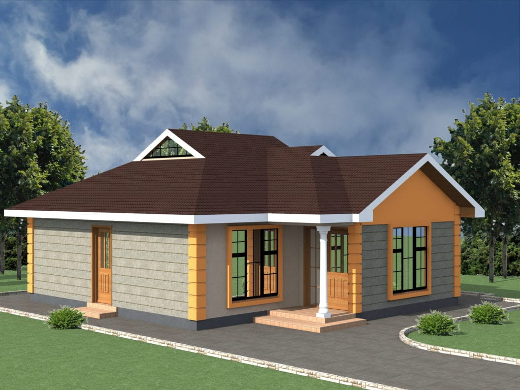 Low cost 2 bedroom house plan in Kenya |HPD Consult