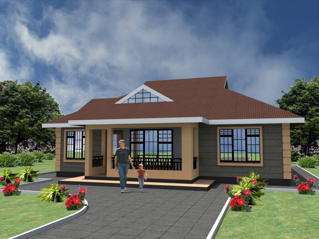 Cheap 3 bedroom house plans design |HPD Consult