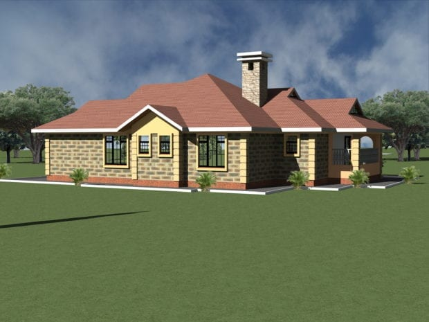 Simple four bedroom house plans