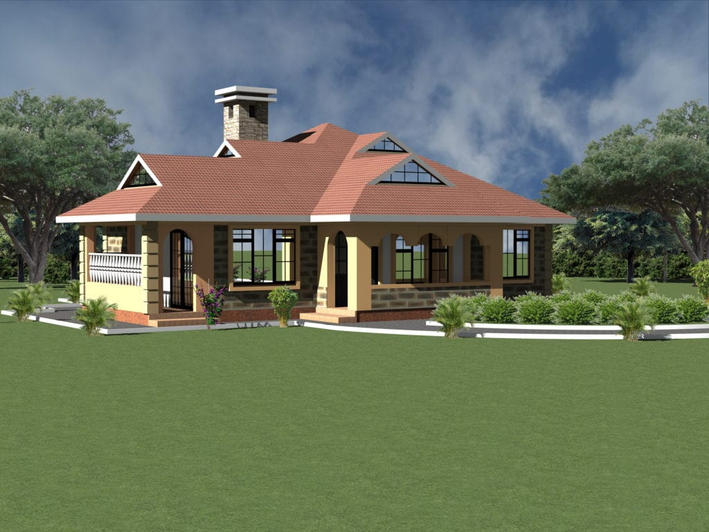 Simple Spacious Four Bedroom House Plans