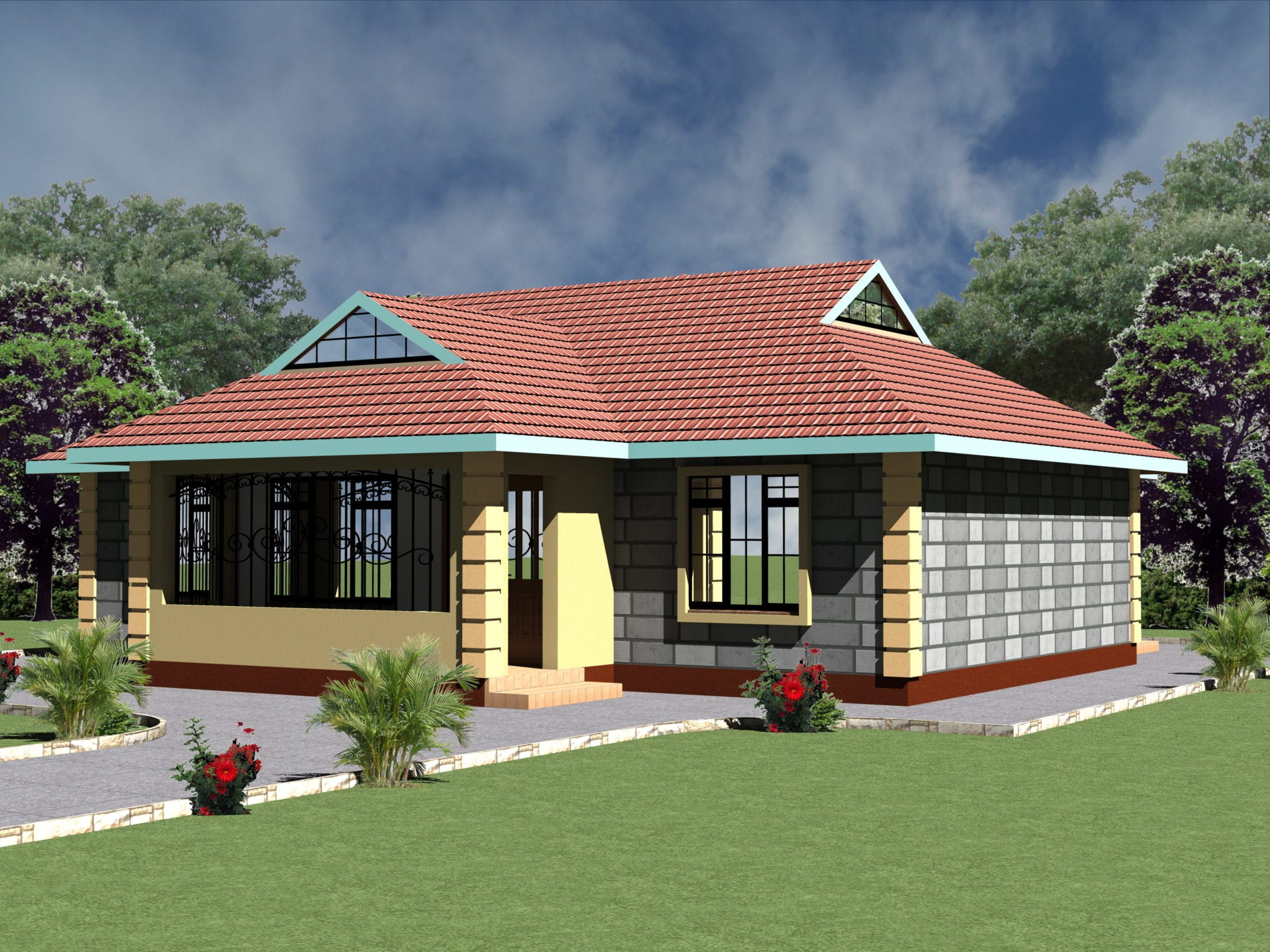 small 4 bedroom house plan designs hpd consult