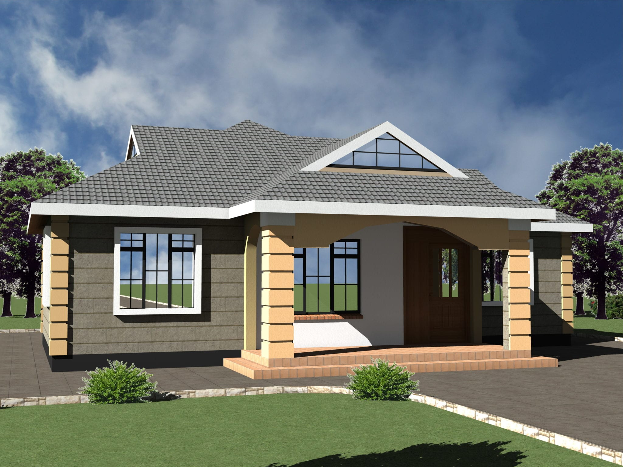 Low Budget Modern 3 Bedroom House Design   HPD Consult