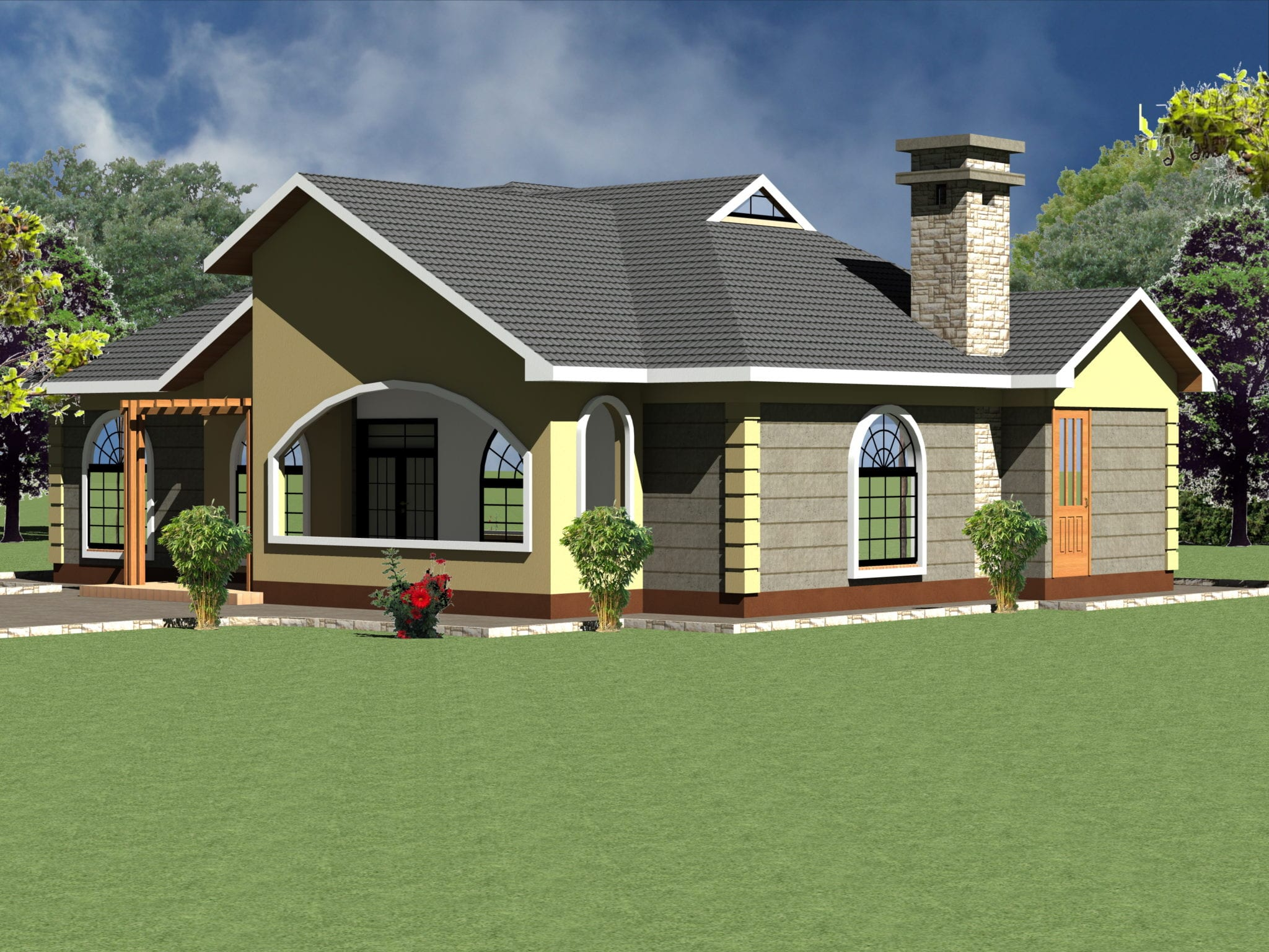 Modern Four Bedroom House plan Design July