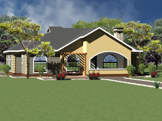 Modern Four Bedroom House Plan