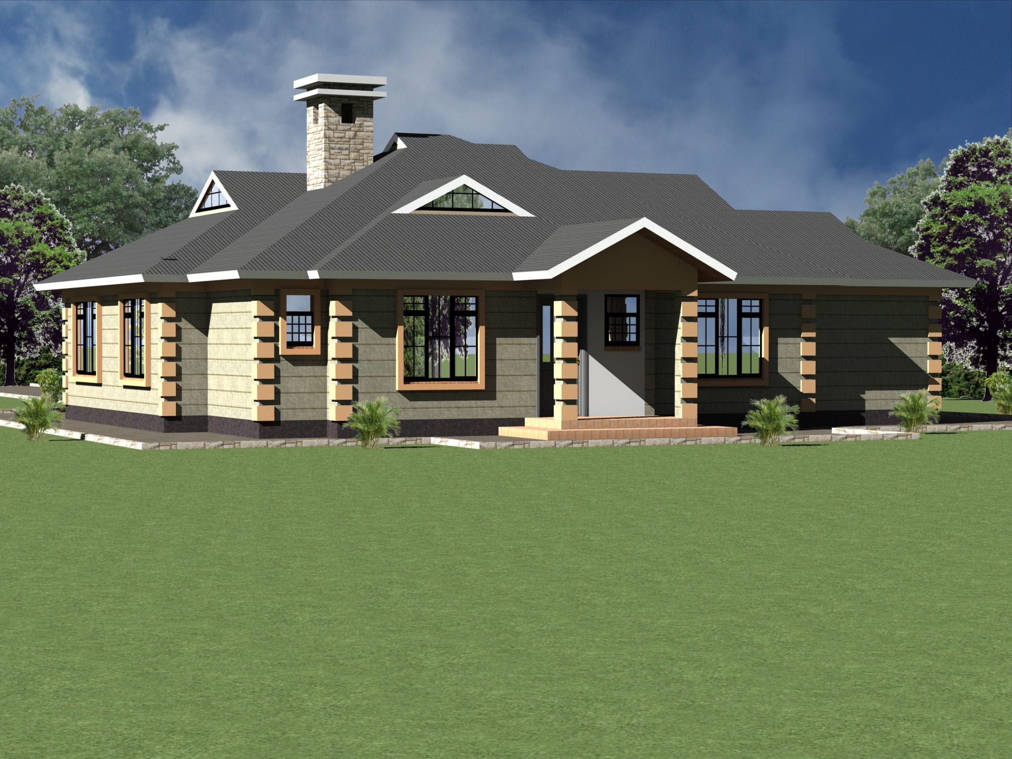 4 Bedroom Bungalow House Designs In Kenya Bedroom Aesthetic