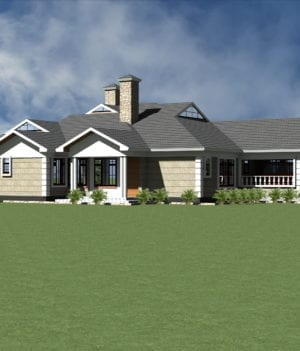 Four bedroom bungalow house plans