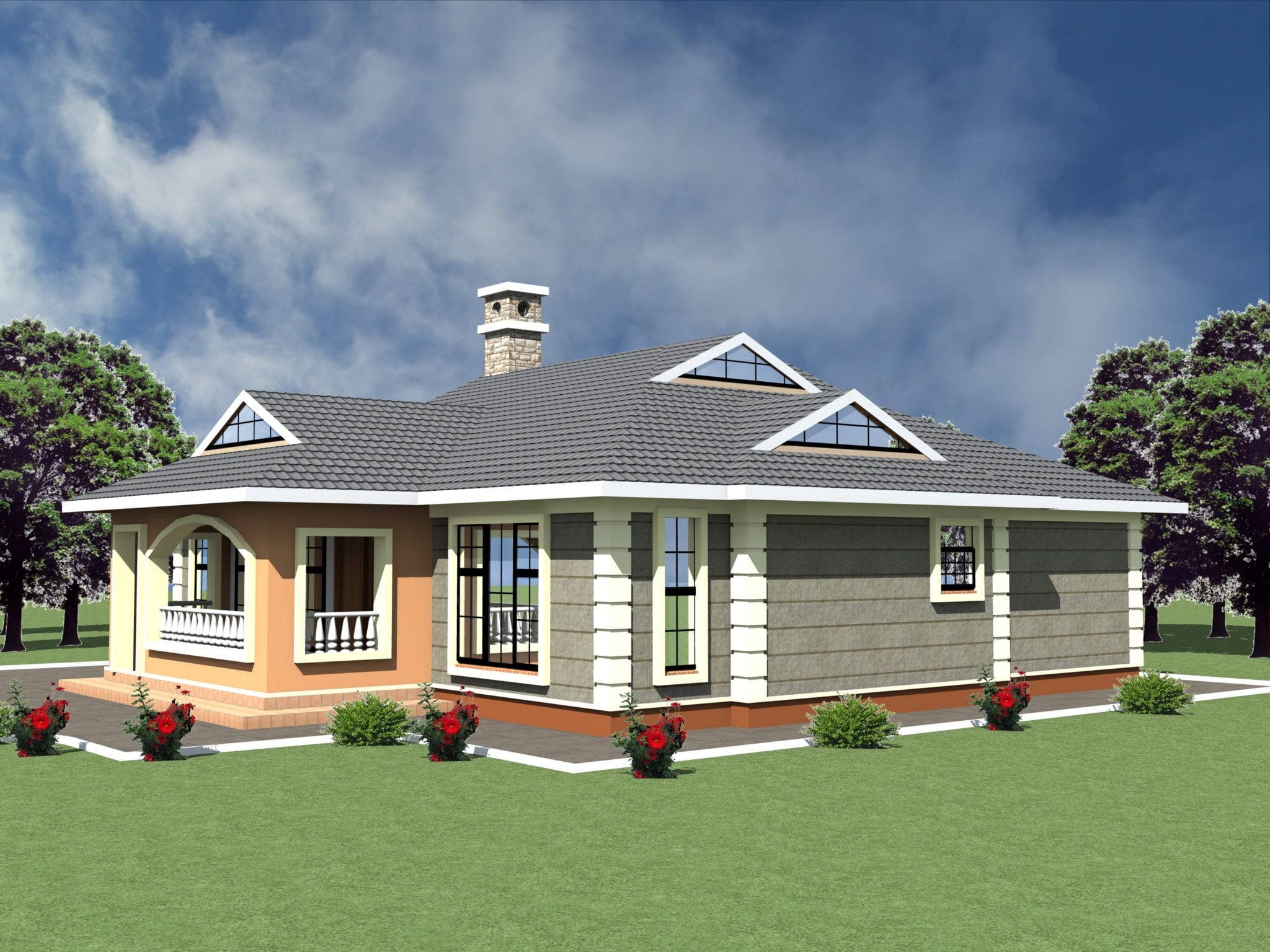 Simple spacious 3 bedroom house designs | HPD Consult