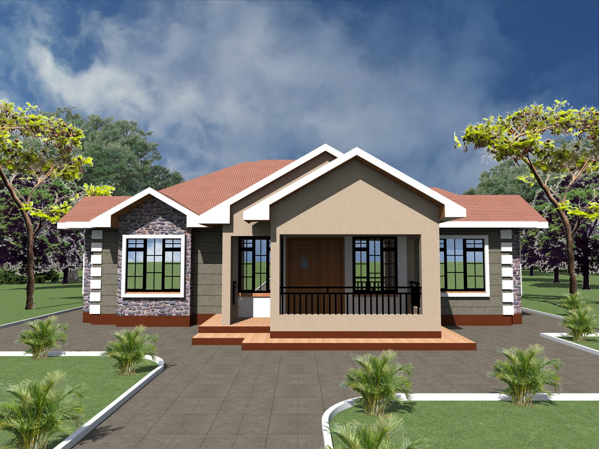 simple 3 bedroom house plans and designs |HPD Consult