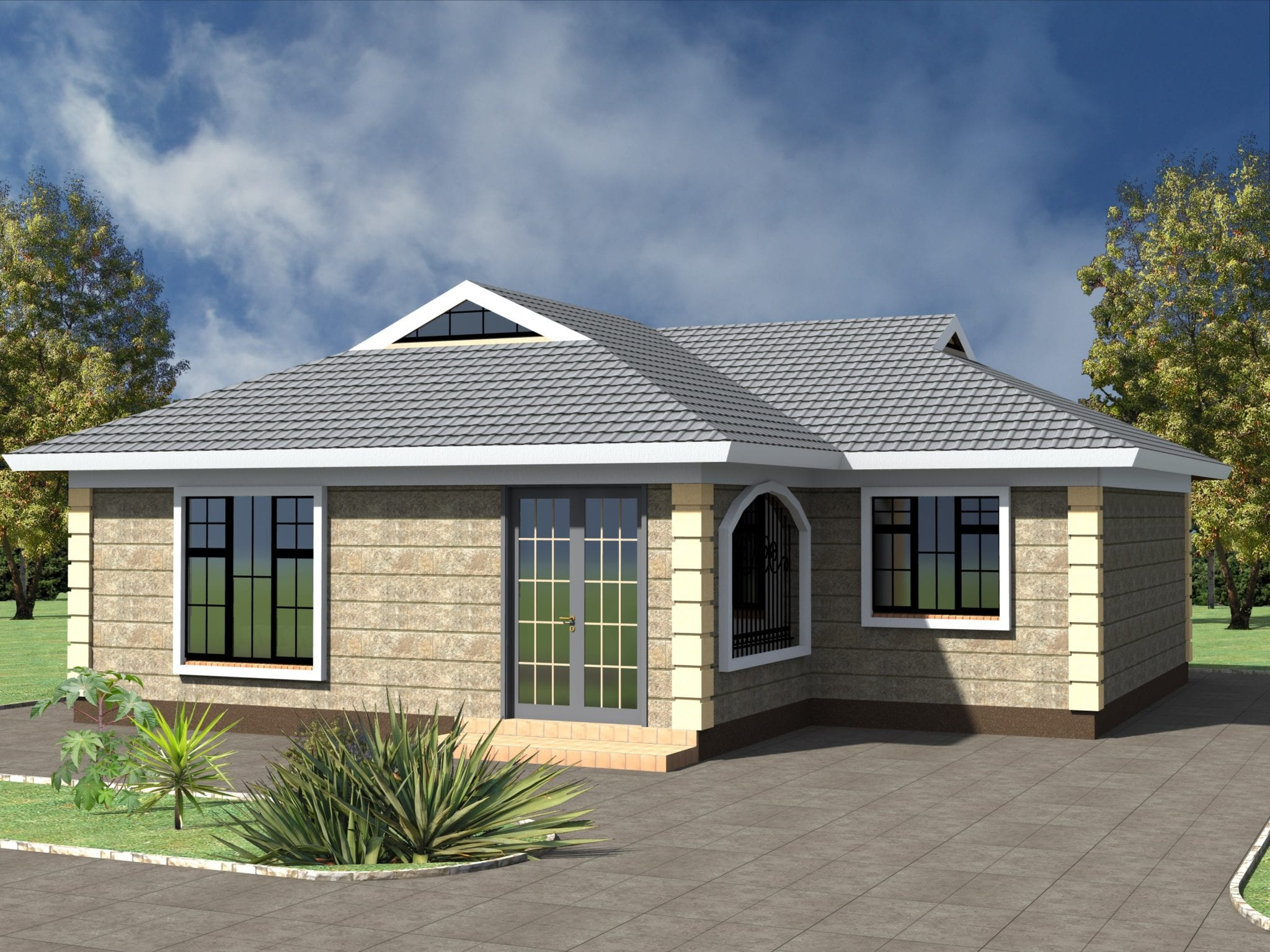 3 Bedroom house plan design in kenya | HPD Consult