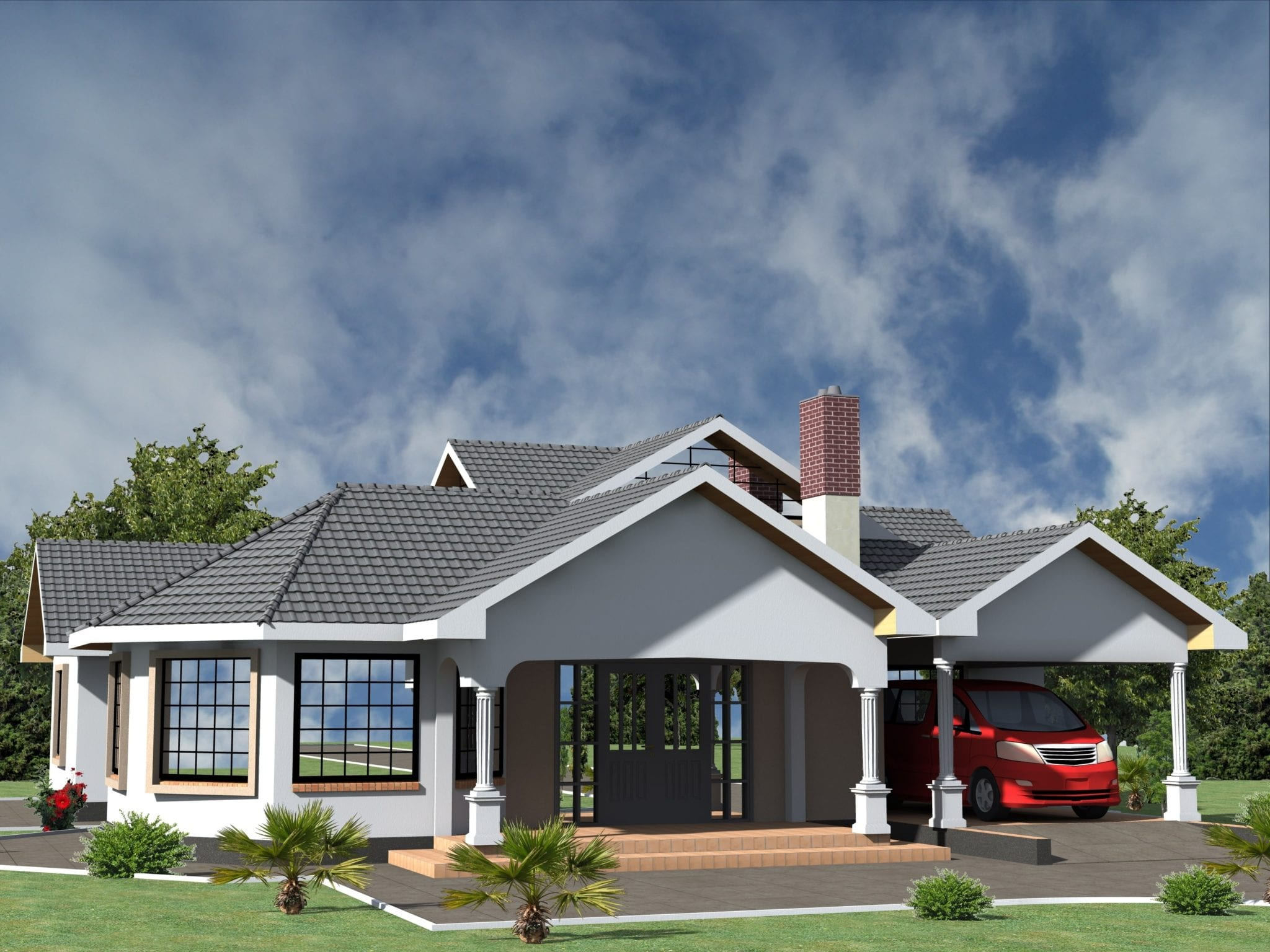 Some Best House Plans In Kenya 3 Bedrooms Bungalows Hpd
