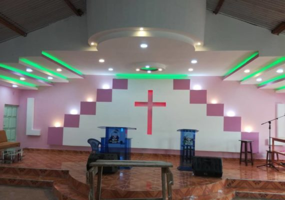 Church Gypsum Design; Modern Church Sanctuary Ceiling Design