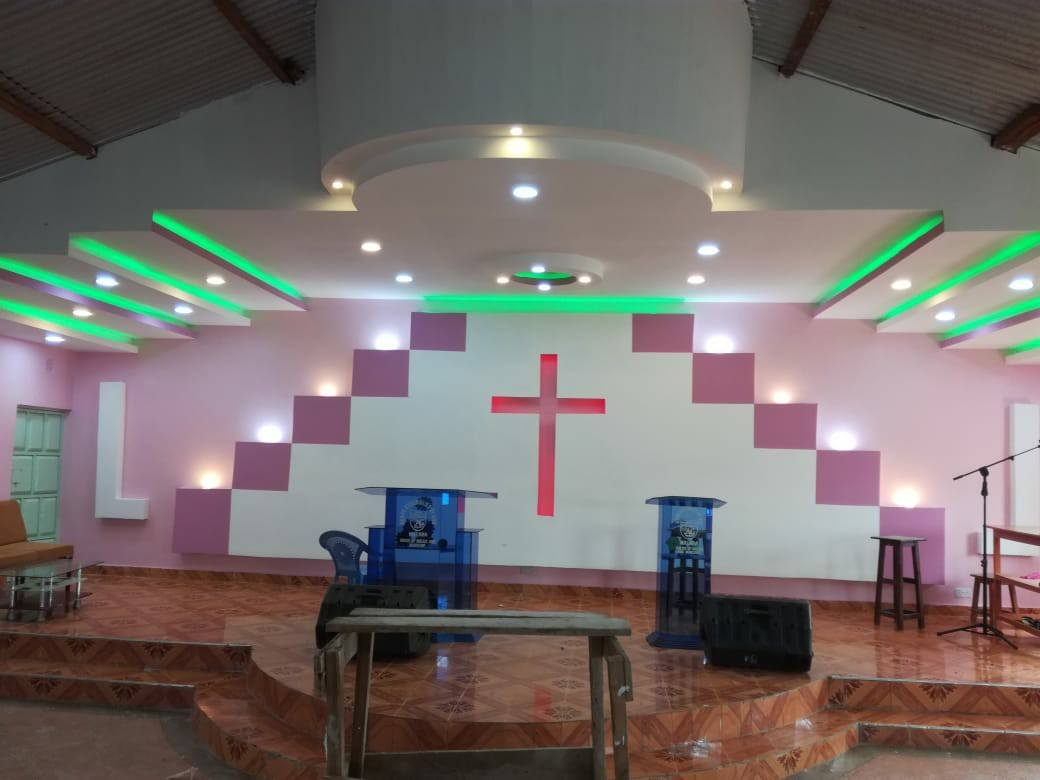 Church Gypsum Interior Design Modern