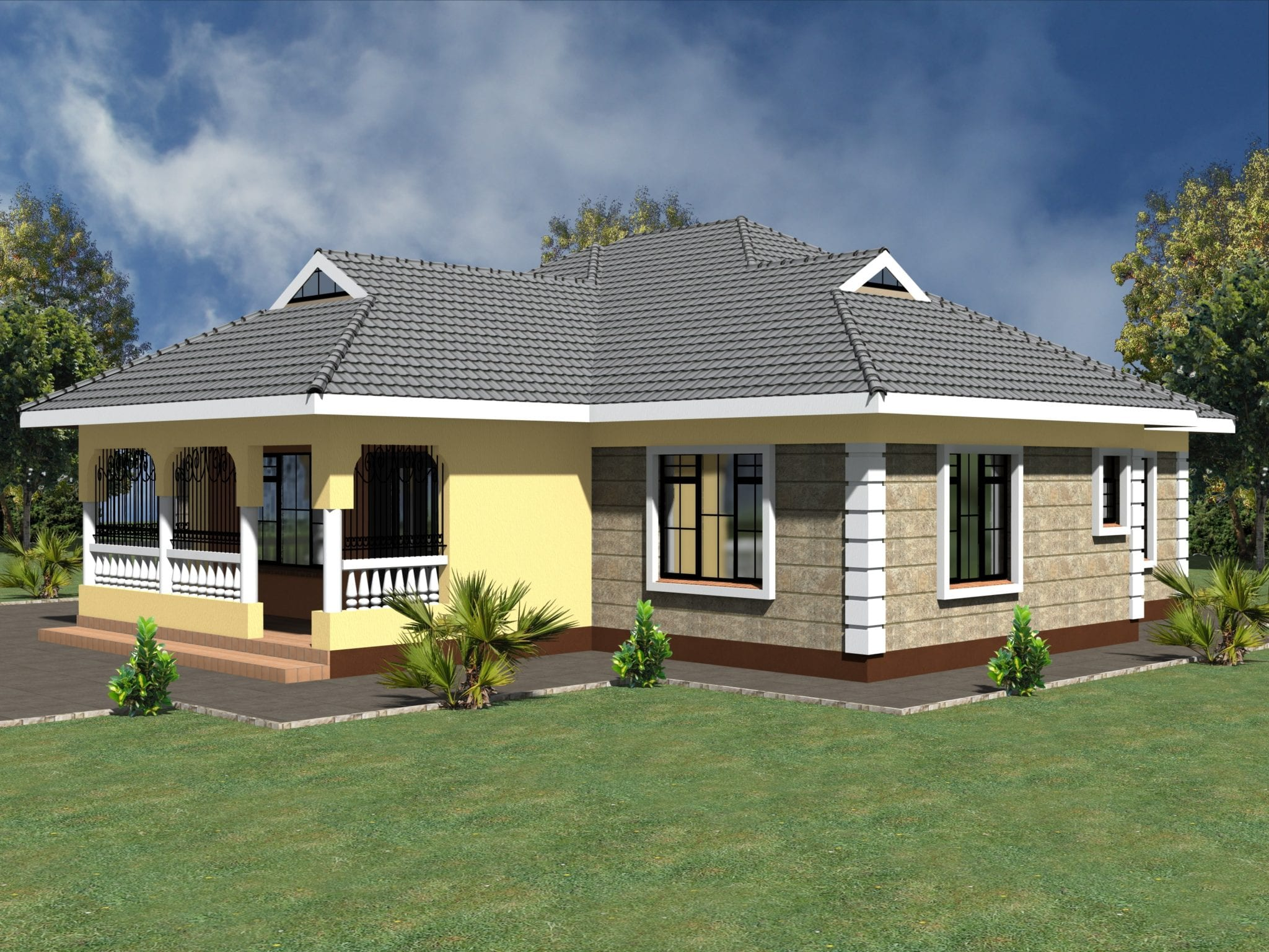 Simple 3 bedroom house plans without garage | HPD Consult
