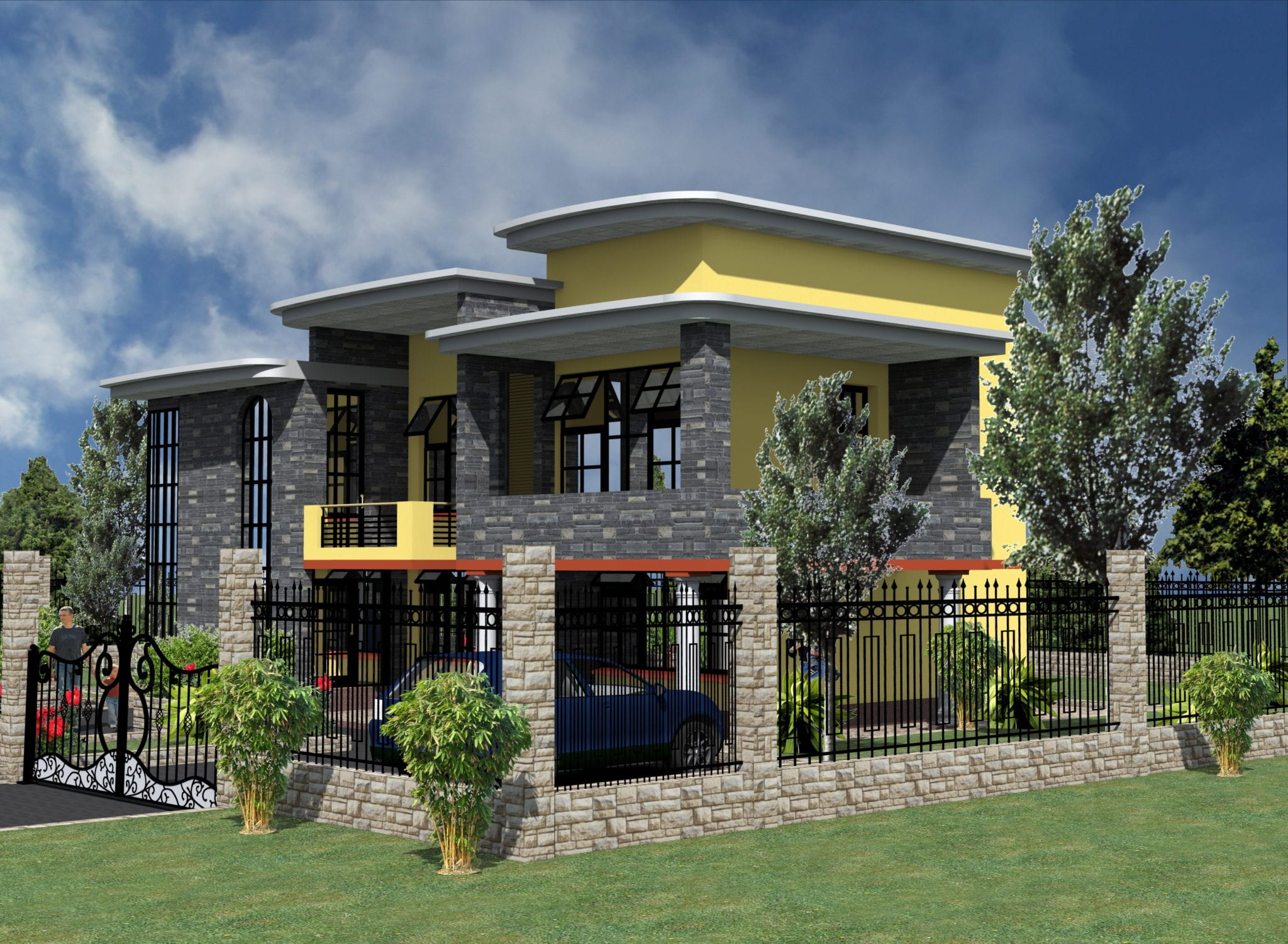5 Bedroom Modern House Plans With Pictures Hpd Consult,2 Chandelier Over Dining Table