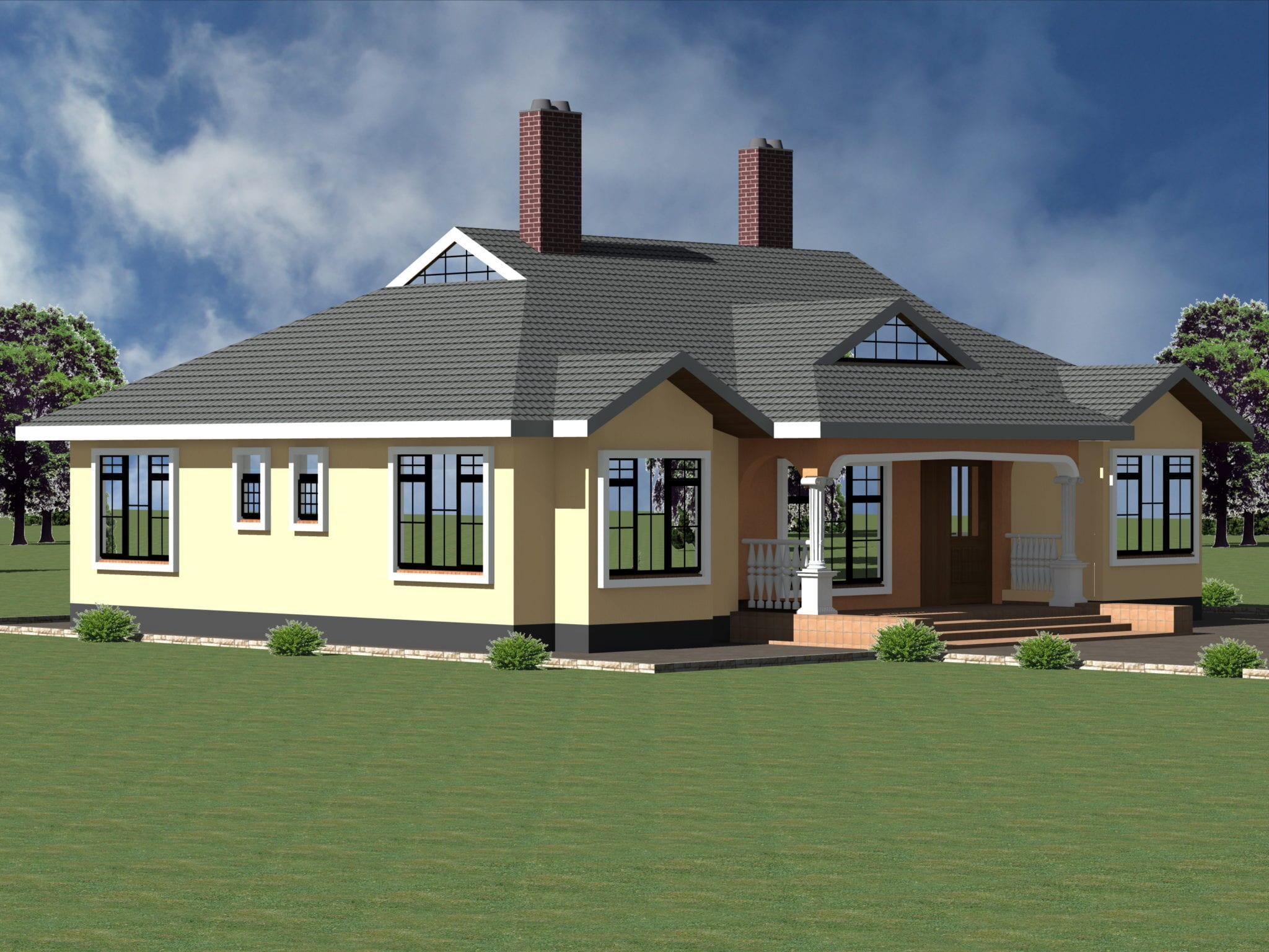 Some Best House Plans in Kenya: 3 Bedrooms Bungalows  HPD