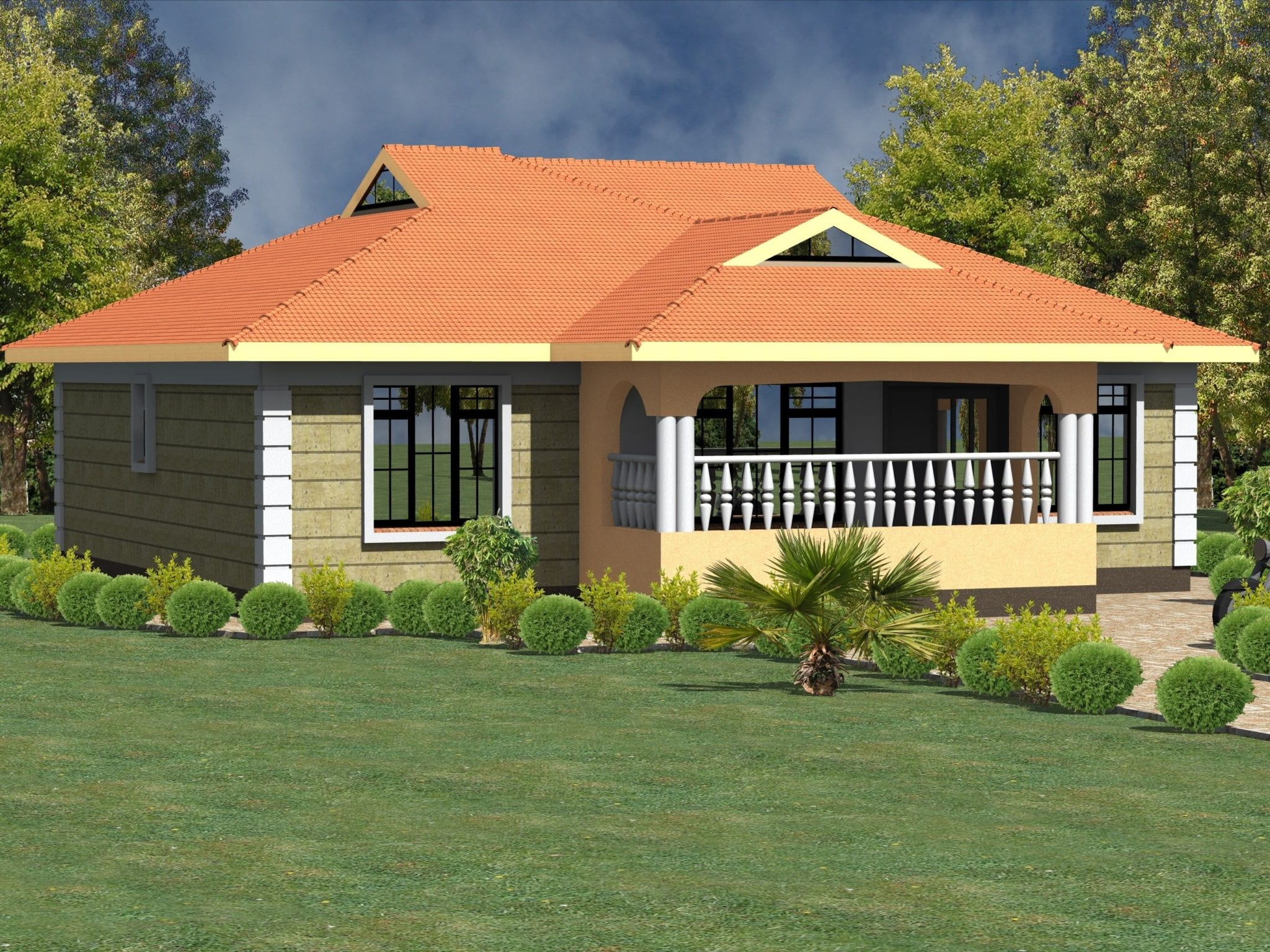 Some Best House Plans in Kenya: 3 Bedrooms Bungalows| HPD