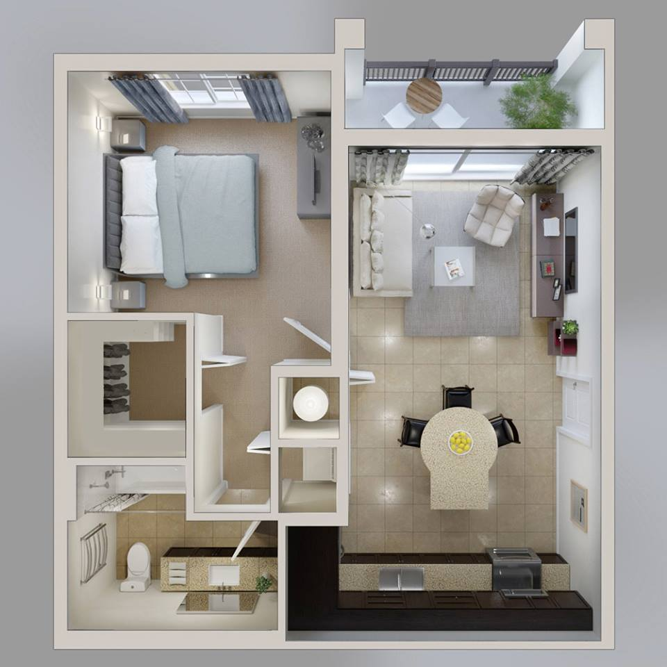 one bedroom house plans