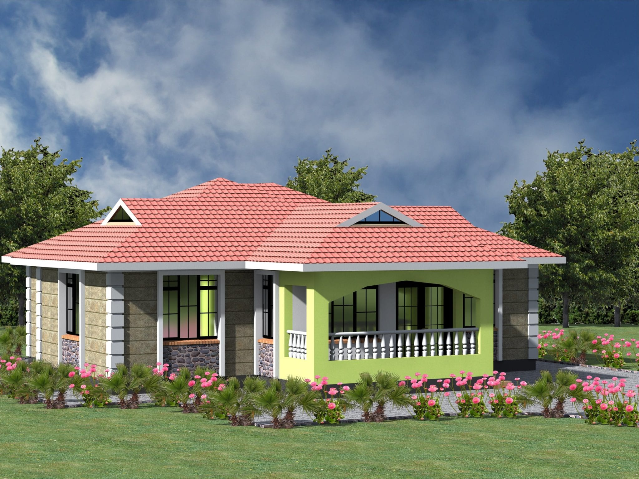 Small 3 bedroom house plans Details Here  | HPD Consult